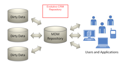 Evolutivo CRM Repository, Master Data Management