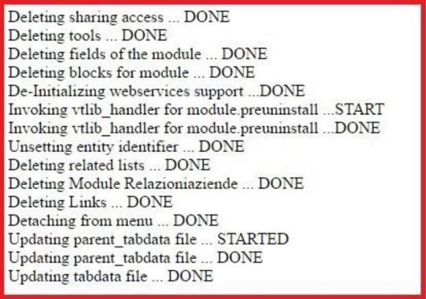 modifiche delete_module.php vtiger CRM
