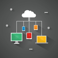 Digital devices connected to the virtual cloud